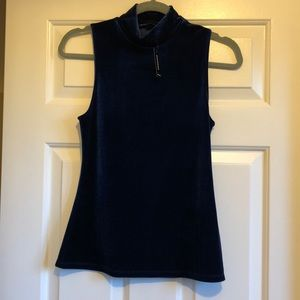 Royal blue velvet top